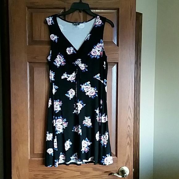 65542881b1c93e Lily Rose Dresses | Brand Sleeveless Black Floral Dress | Poshmark